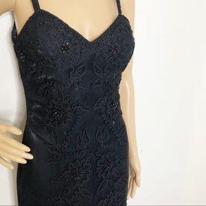 Sue Wong Vintage Nocturne Black Beaded Gown